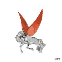 CHROME HOOD ORNAMENTS WITH ILLUMINATED WINGS | 48074