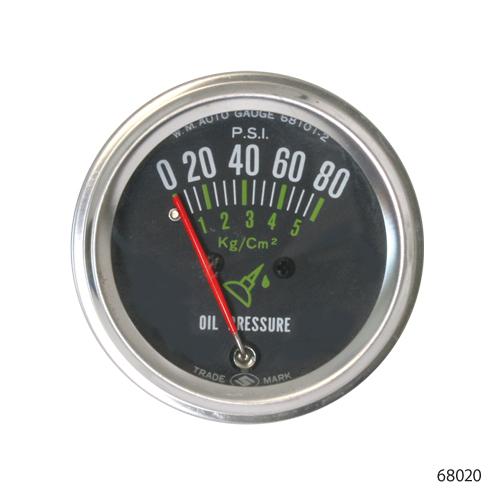 PSI oil pressure gauge