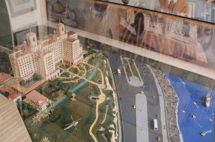 Ein kleines Modell des Hotels - Maßstabsgetreu