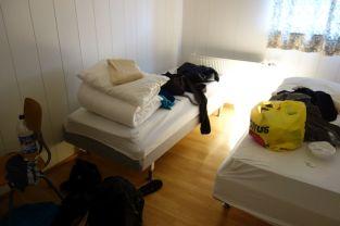 Ein Bild von unserem Zimmer im Hostel