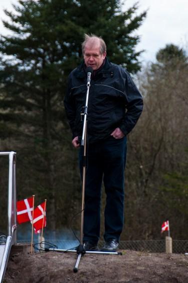 Tonny Pedersen fra LAG Silkeborg talte ved indvielsen.