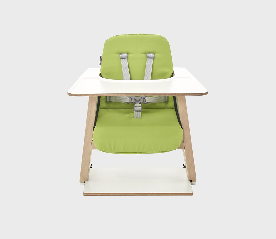 green high chair antique bentwood chairs highchair seat cushion knuma innovative bedside cribs