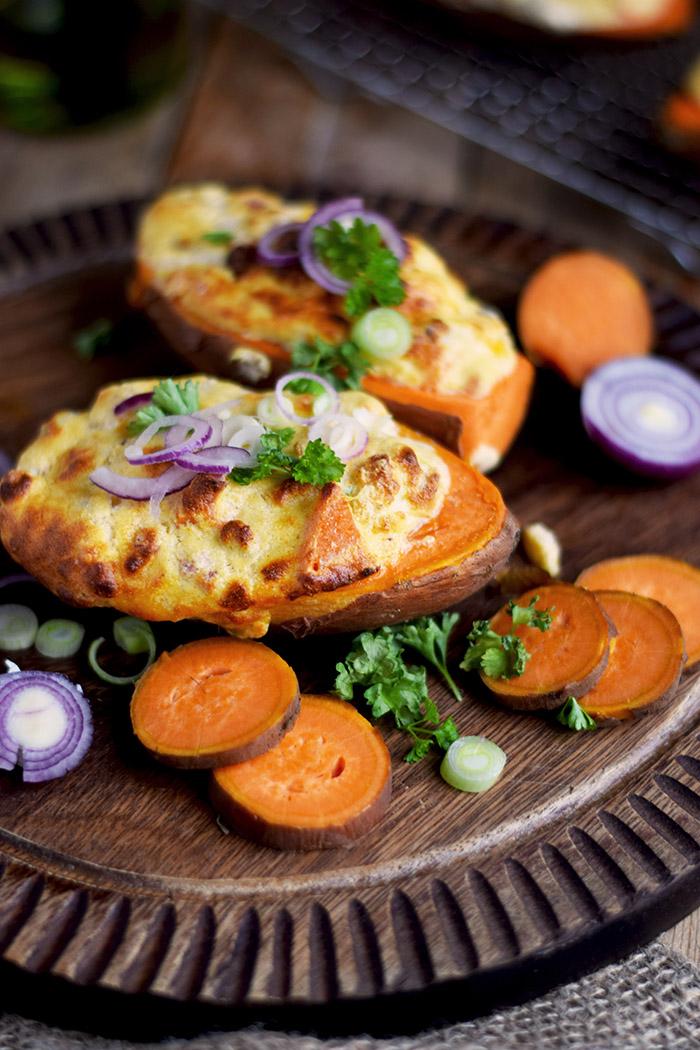 Gefüllte Süßkartoffeln - Stuffed Sweet Potatoes (6)