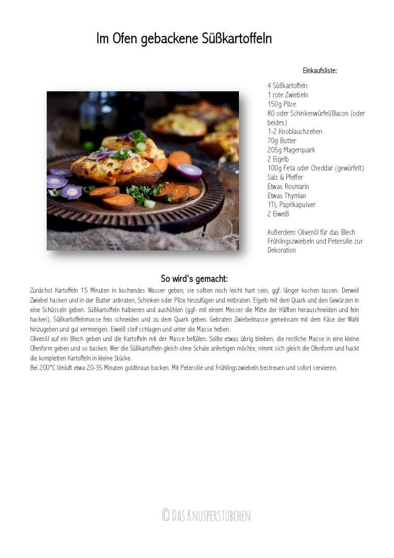 Süßkartoffeln im Ofen gebacken - Sweet Potatoes oven baked-001