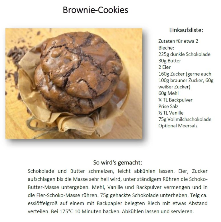 Brownie Cookies Rezept