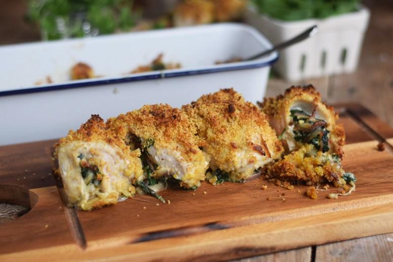 Cajun Chicken - Huehnchen gefuellt mit Spinat und Kaese und knuspriger Panade (4)