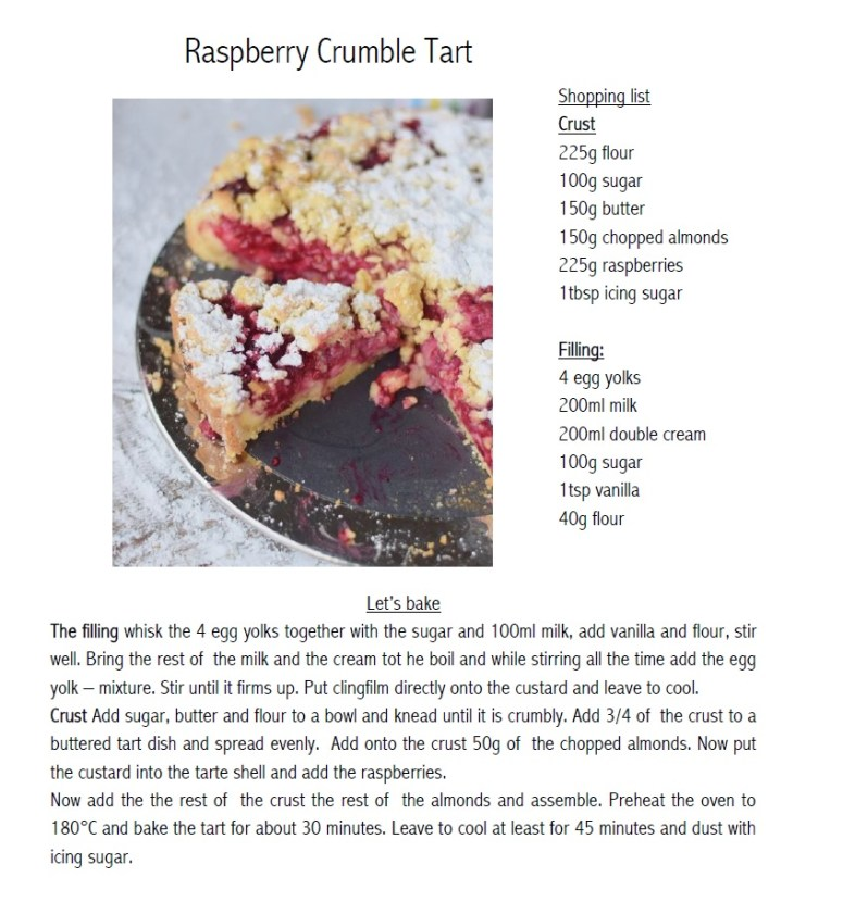 Raspberry Crumble Tart
