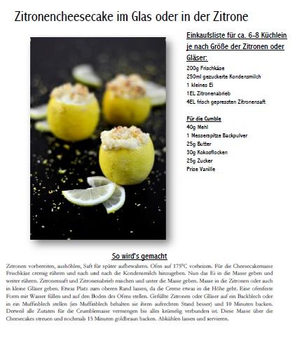 Zitronen Crumble Cheesecake in der Zitrone Sekt Rezept