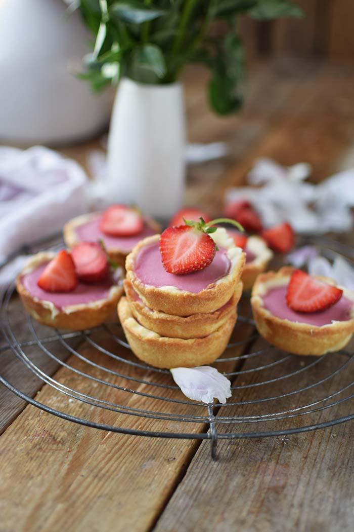 Erdbeer Cookie Cups - Strawberry Cookie Cups (9)