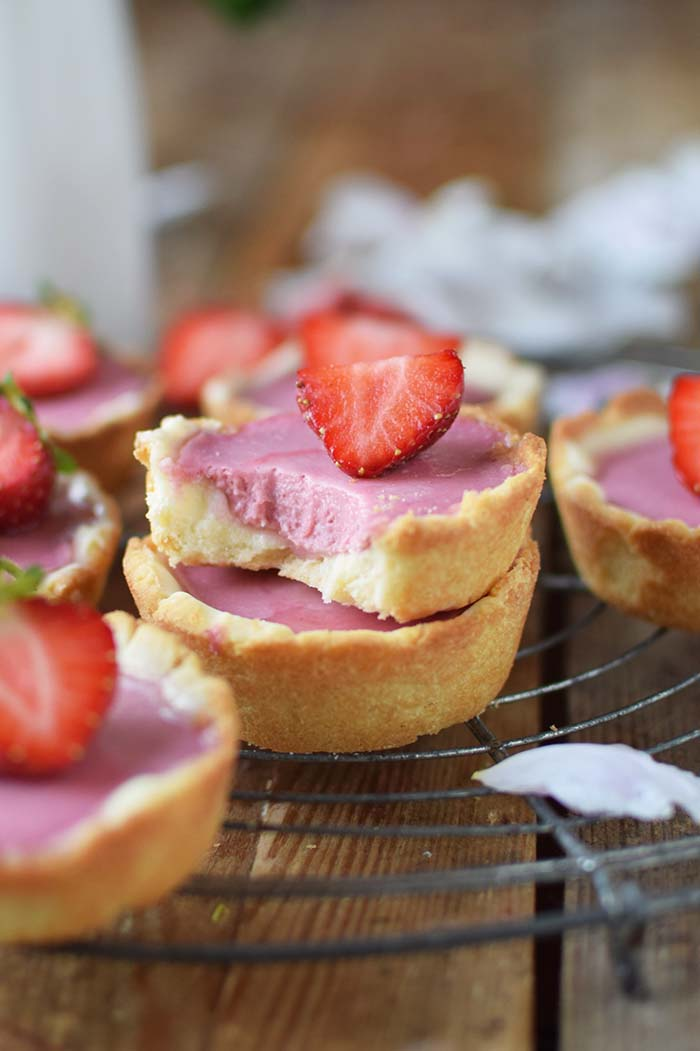 Erdbeer Cookie Cups - Strawberry Cookie Cups Rezept