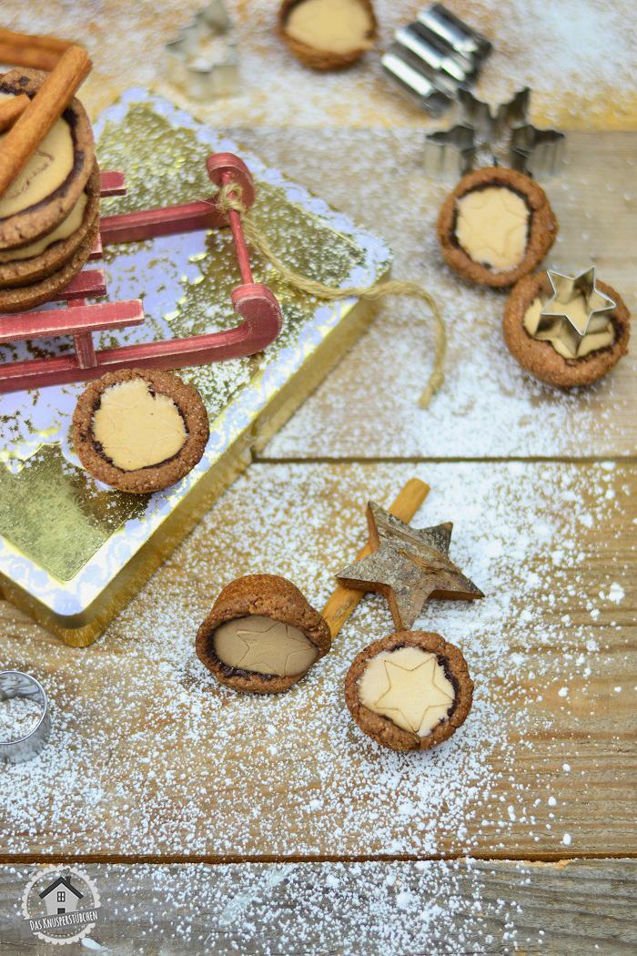 Lebkuchen Cookie Cups mit Lebkuchen Panna Cotta 5