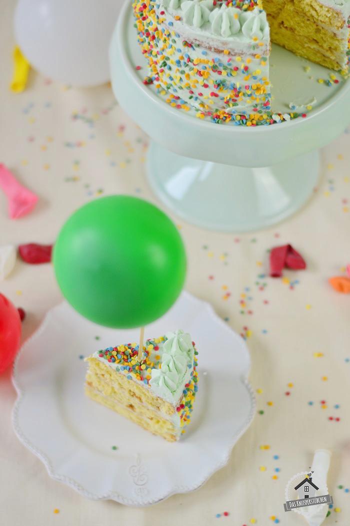 Marzipan Geburtstagstorte Luftballons  10