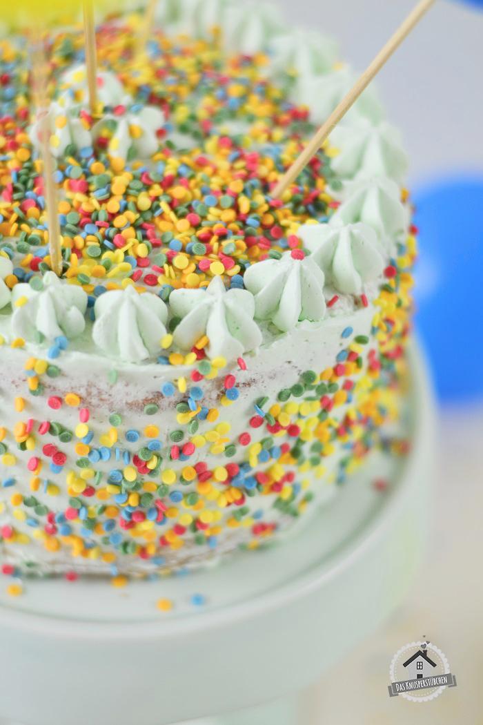 Marzipan Geburtstagstorte Luftballons  2