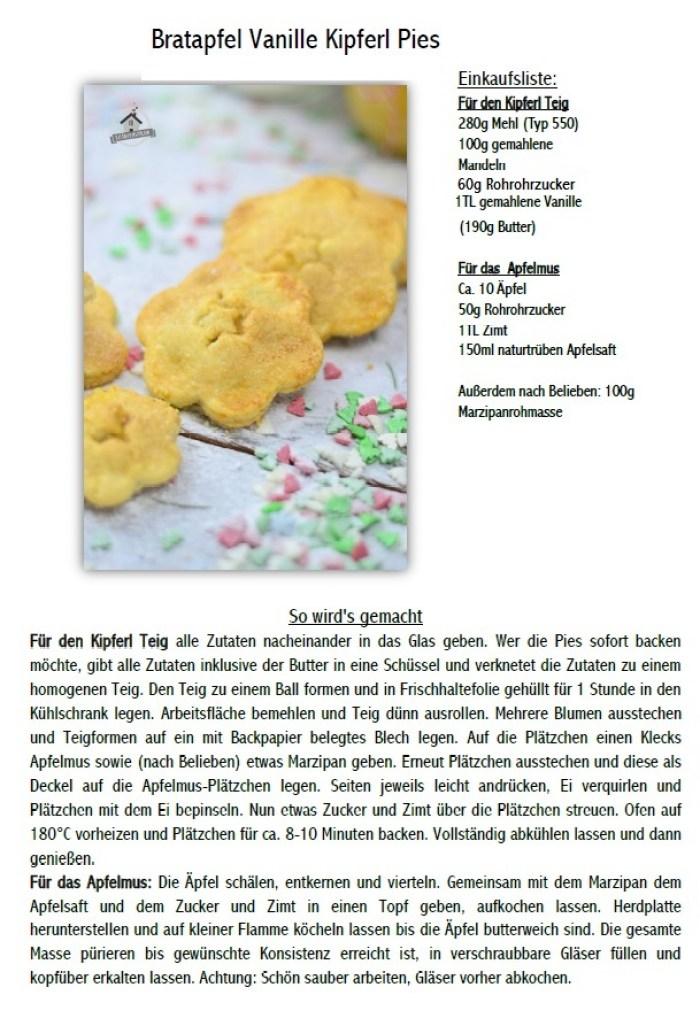 Bratapfel Vanille Kipferl Pies Rezeptbild 1