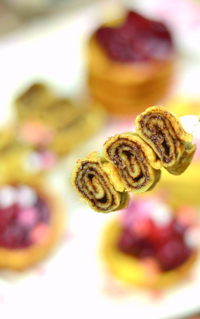 Pancakes oder Pfannkuchen mit Schokolade-1