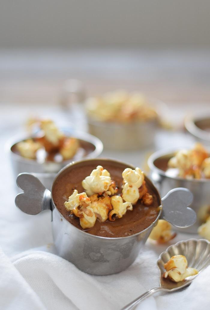 Schoko Mousse Pudding Toffee und Karamell Popcorn 10