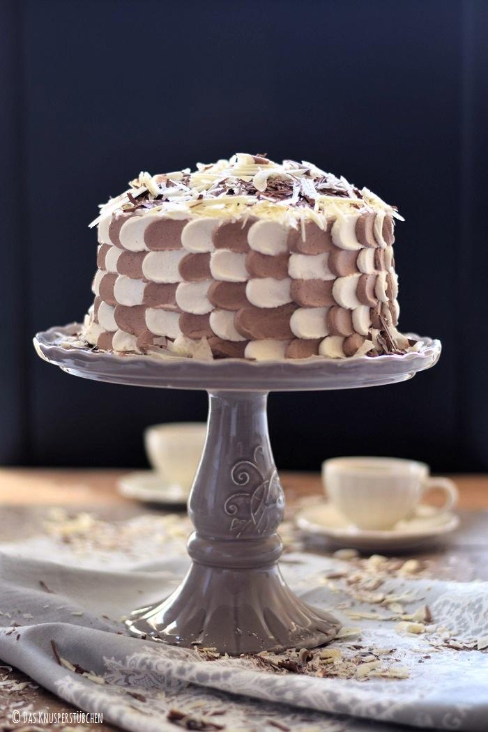Schokolade Marzipan Schachbrett Torte 3