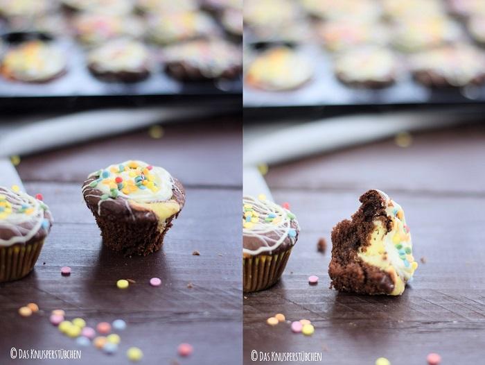 Schoko Cheesecake Muffins 27