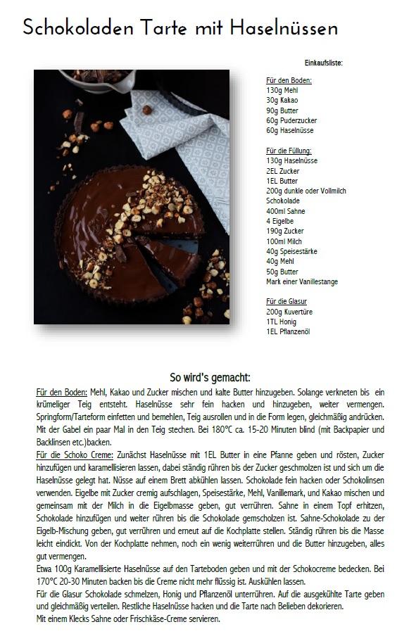 Schokoladen Haselnuss Tarte - Chocolate Hazelnut Tart #chocoholics #schokolade #chocolate Rezept
