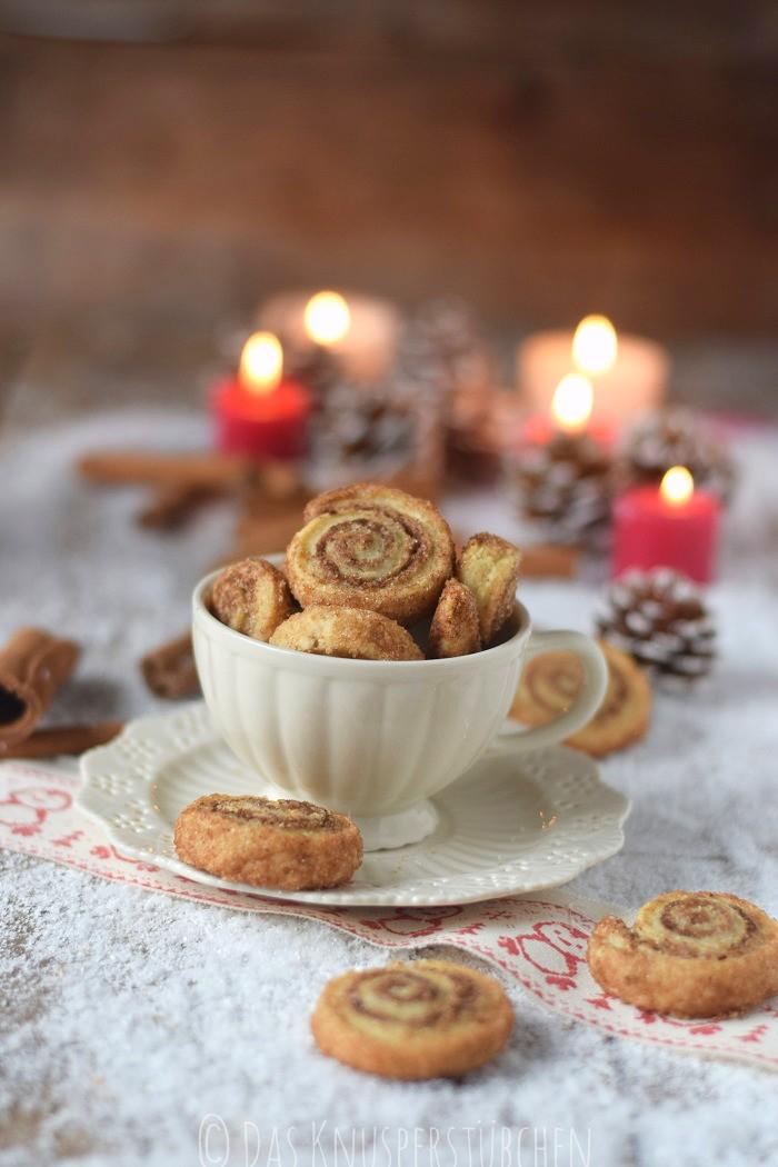 Haselnuss Zimtbällchen und Zimtschnecken Kekse Plätzchen (1)