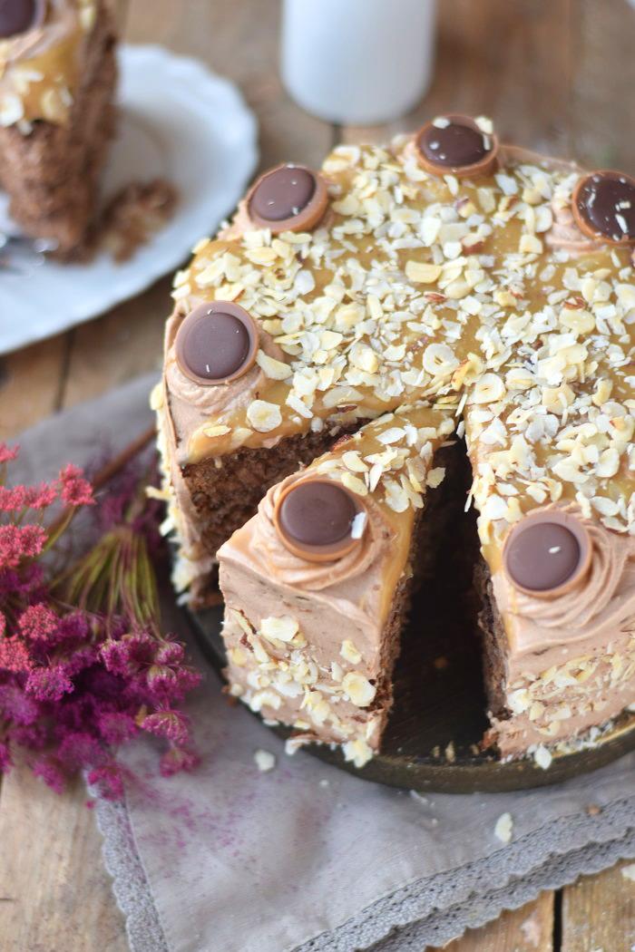Karamell Nougat Haselnuss Toffifee Torte - Caramel Hazelnut Chocolate Cake (22)