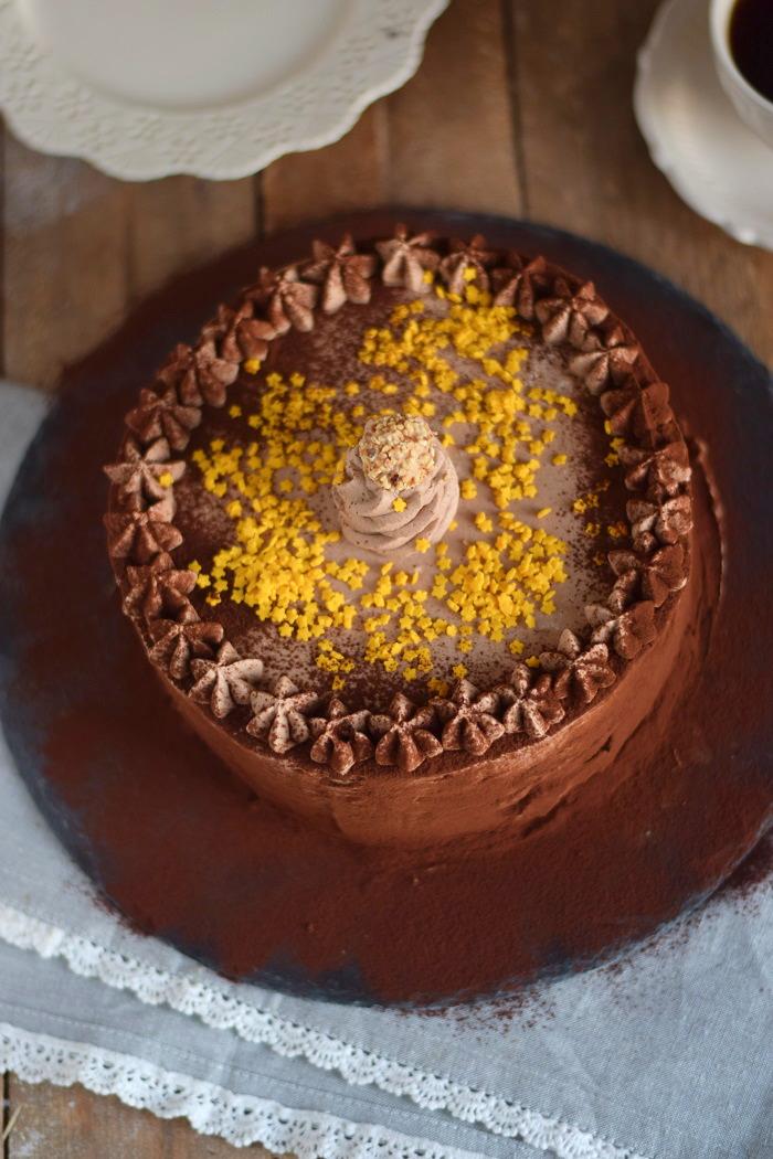 Nougat Marzipan Mousse Torte - Chocolate Marzipan Cake (4)