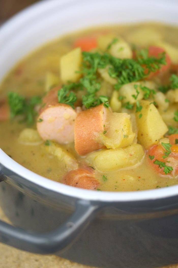 Grundrezept Gemuesebruehe & Kartoffelsuppe - Vegetable stock and Potato Soup (9)