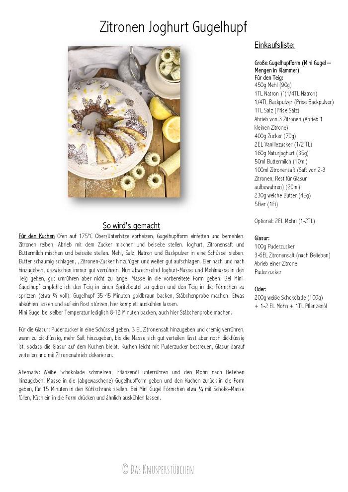 Zitronen Joghurt Gugelhupf - Lemon Yogurt Bundt Cake Rezept Recipe-001