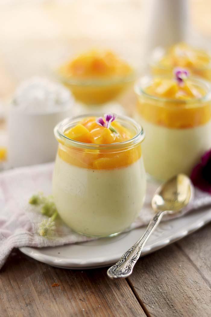 Joghurt Panna Cotta mit Lieblingssaft und Mango Salat - Yogurt Panna Cotta with Mango Salad (20)