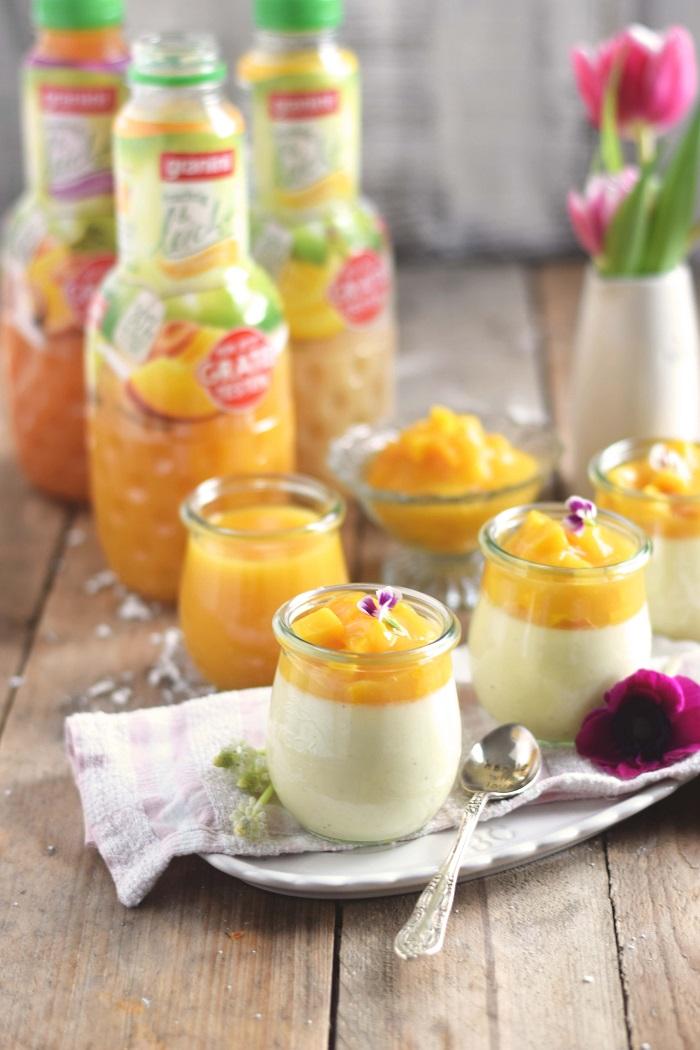 Joghurt Panna Cotta mit Lieblingssaft und Mango Salat - Yogurt Panna Cotta with Mango Salad (6)