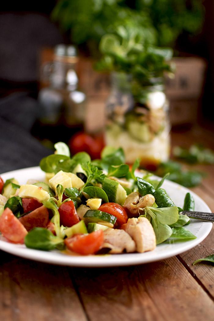 Honig Senf Salat im Glas - Honey Mustard Salad in a jar - Honey Mustard Dressing (12)