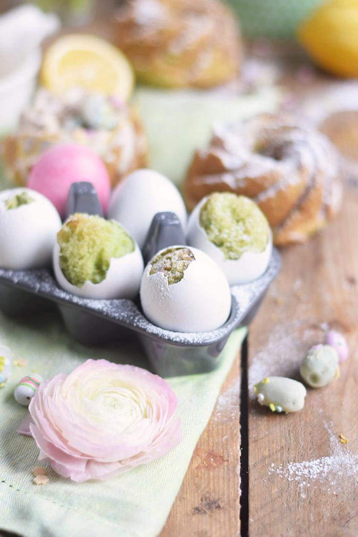 Zitronen Avocado Osterkuchen - Lemon Avcado Cake - Egg Cake - Cake in Egg (1)