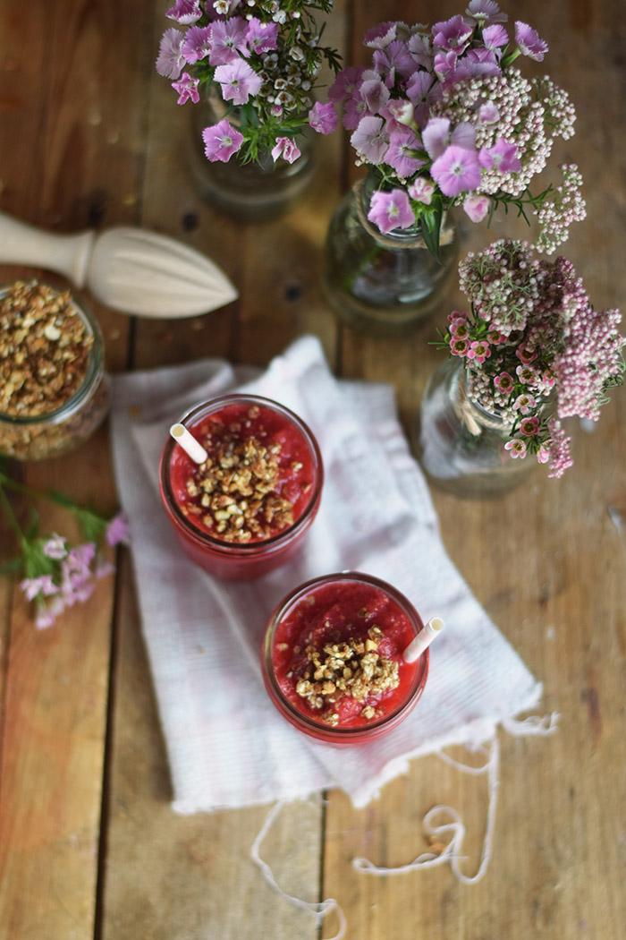 Himbeer Apfel Smoothie - Raspberry Apple Smoothie (10)