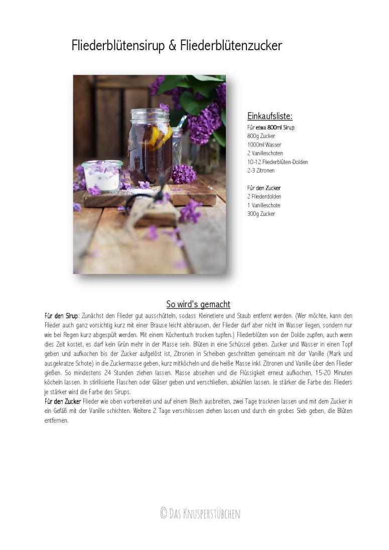 Flieder Blueten Sirup - Lilac Syrup - Fliedersirup-001