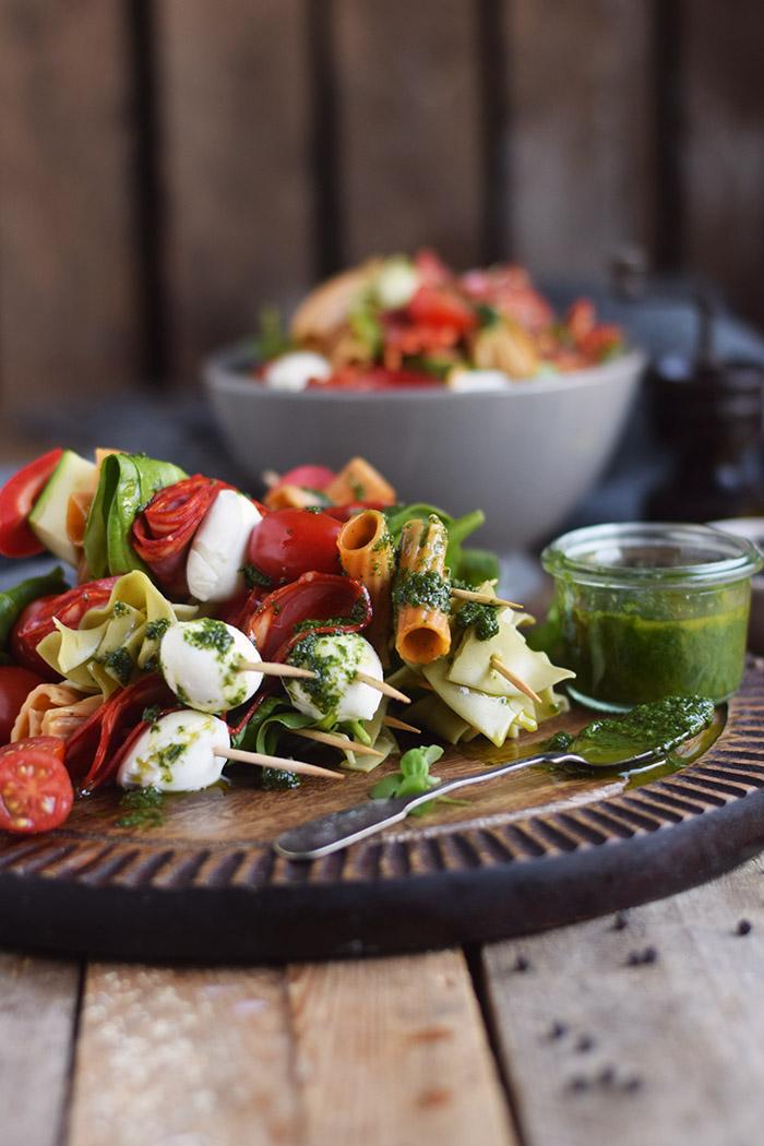 Pasta Salat Spiesse - Pasta Salad Skewers (11)