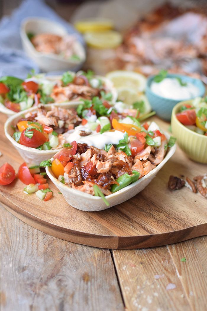 Pulled Lachs mit frischer Salsa - Pulled Salmon Tacos (5)