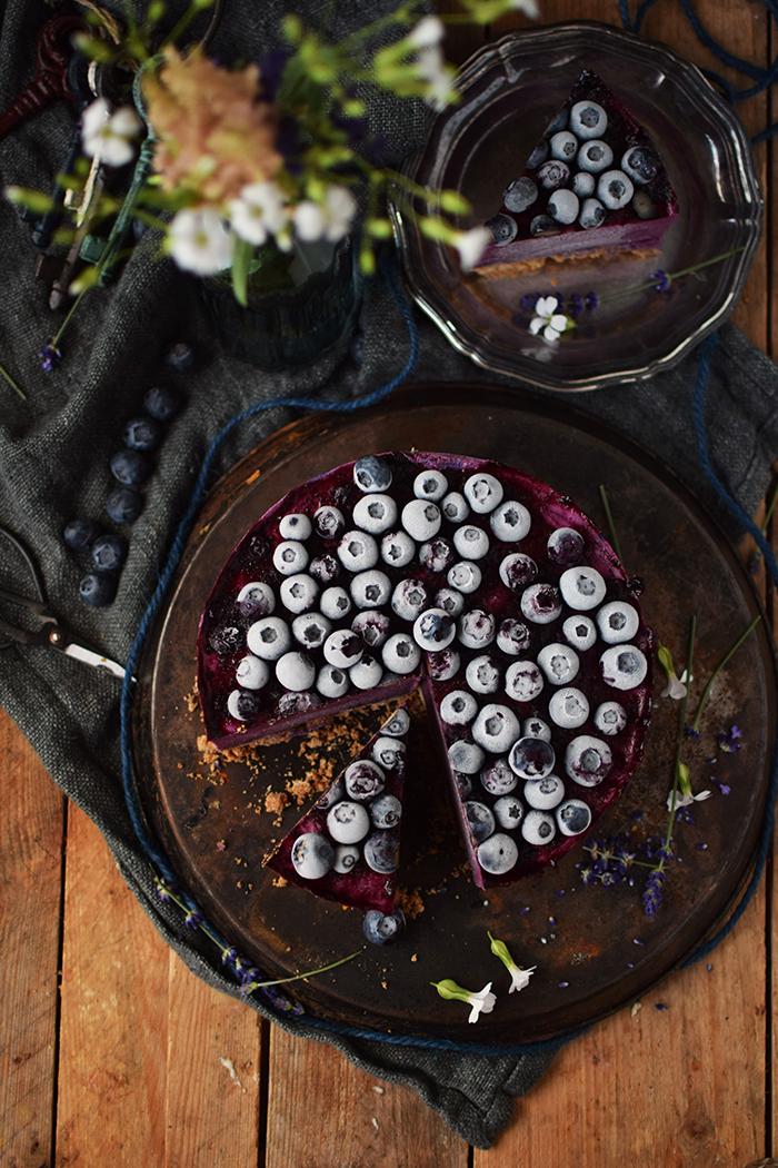 No Bake Blaubeer Cheesecake - No Bake Blueberry Cheesecake (17)