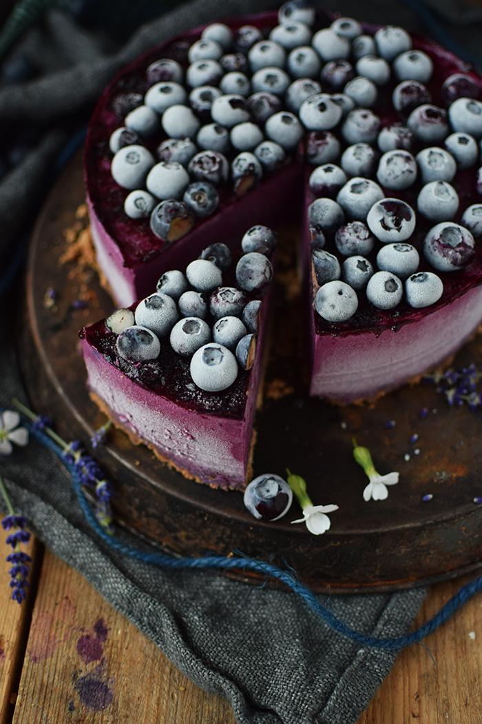 No Bake Blaubeer Cheesecake - No Bake Blueberry Cheesecake (21)