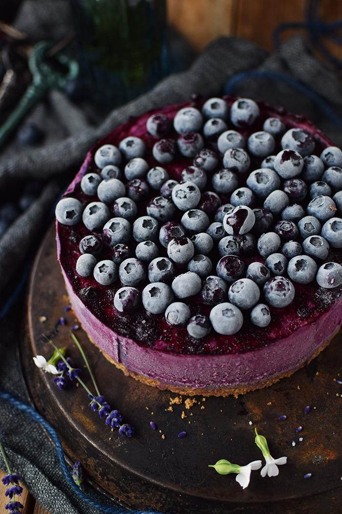 No Bake Blaubeer Cheesecake - No Bake Blueberry Cheesecake (7)