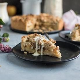Apfel-Streuselkuchen mit Vanillesauce nach Oma Ingis Rezept