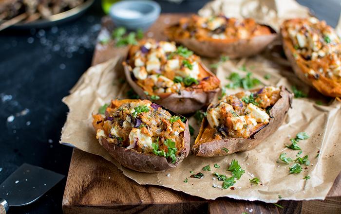 Doppelt gebackene Ofen-Süßkartoffeln in Zusammenarbeit mit EDEKA