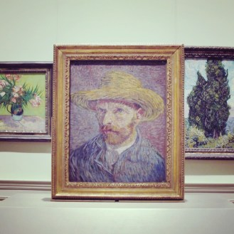 Self explaining: Vincent van Gogh, Self-Portrait with a Straw Hat, 1887.