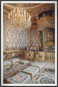 The Marie Antoinette's bed - another highlight of the palace, and I love the design of the wall paper - so organic with a heavy feminine touch.