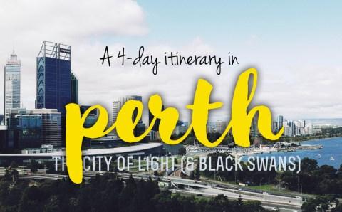 Exploring Perth: 4-day Itinerary and City Walk