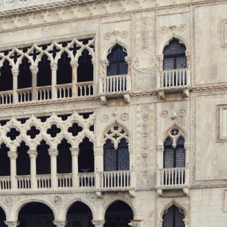 The beautiful details of the Ca' d'Oro, which could be seen on the boat from the Grand Canal.