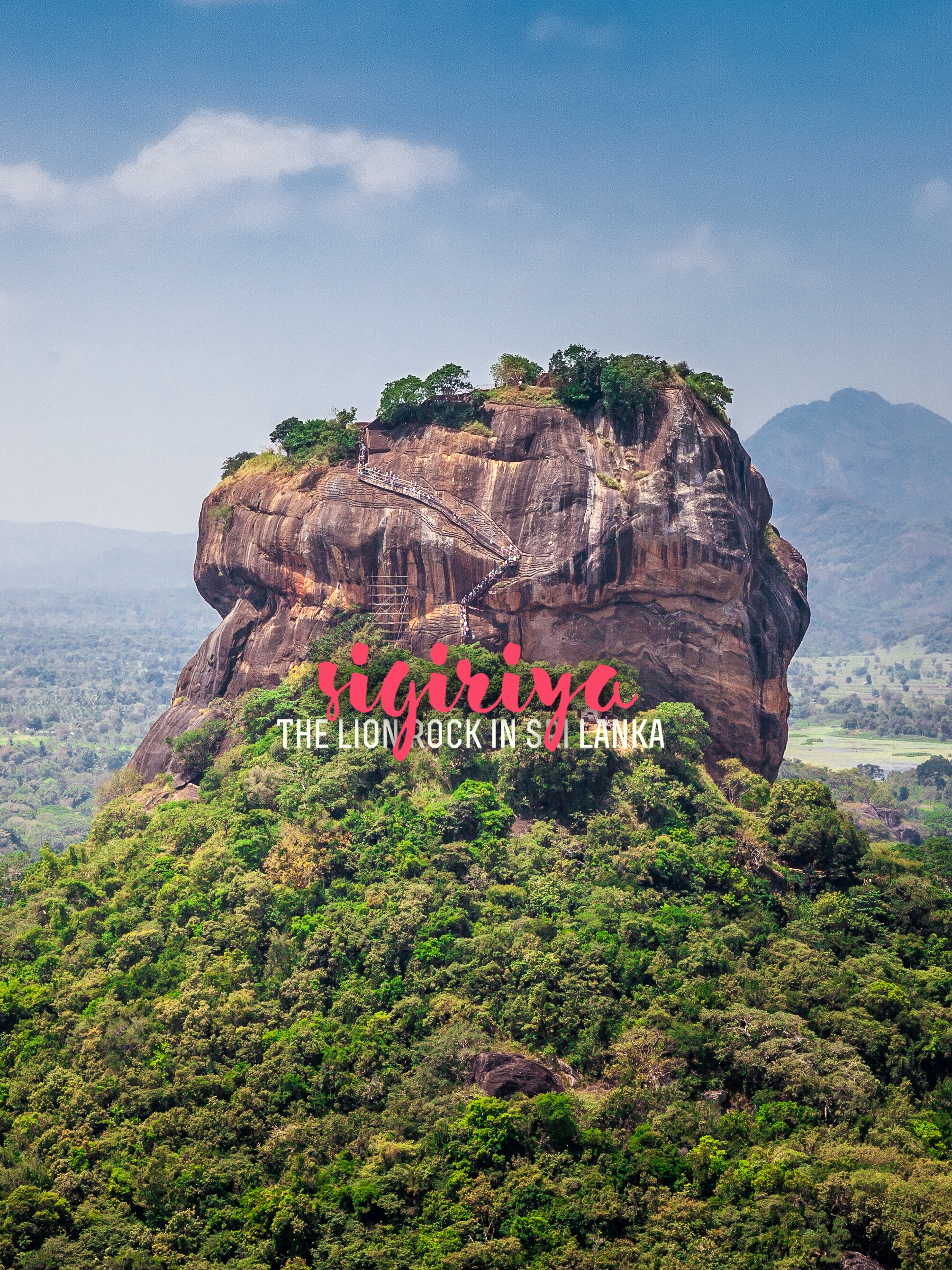 Lion Rock in Sri Lanka, from Three Perspectives