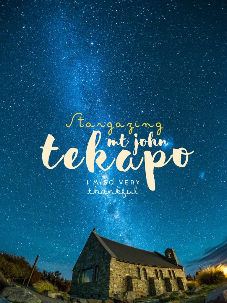 Underneath the Stars: Lake Tekapo