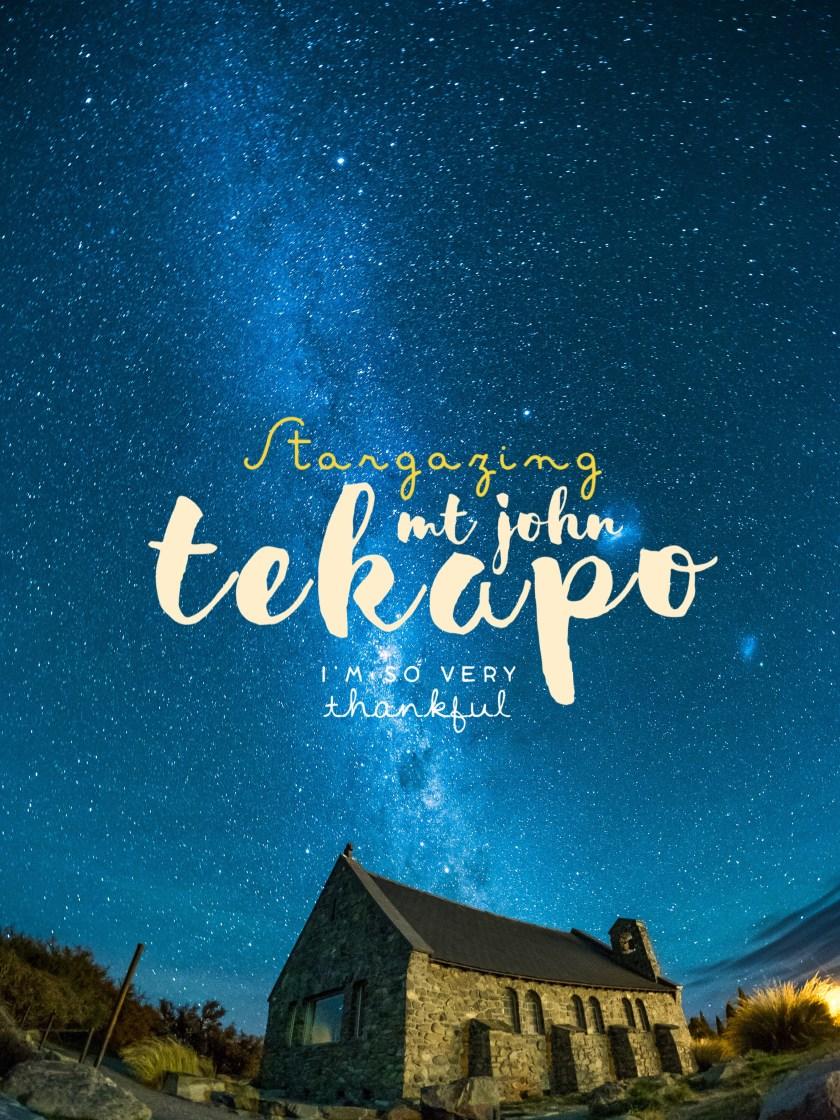 Lake Tekapo, Mount John, Stargazing, New Zealand