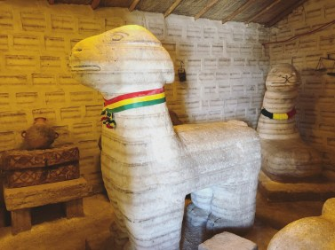 An exhibit in the salt museum in Uyuni, Boliva