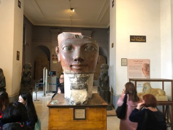 Egyptian Museum (9) - Limestone Head of Hatshepsut